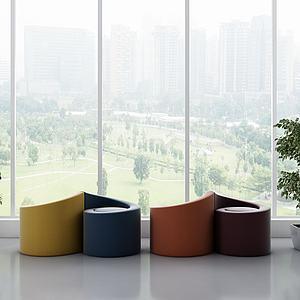 現代單人沙發3d模型