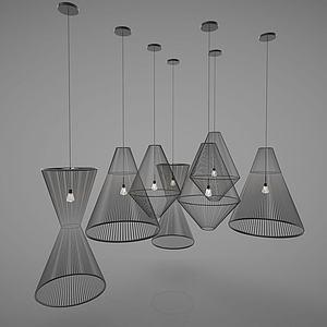 新中式风格灯具模型