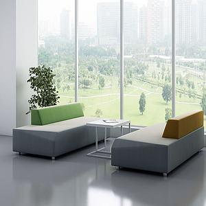 現代休閑沙發3d模型