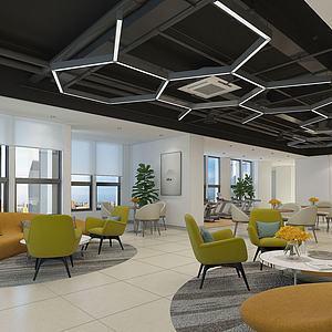 办公休息区3d模型
