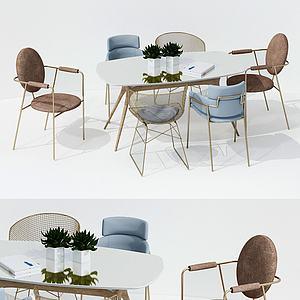 現代休閑桌椅3d模型