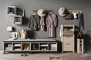 现代北欧鞋柜边柜