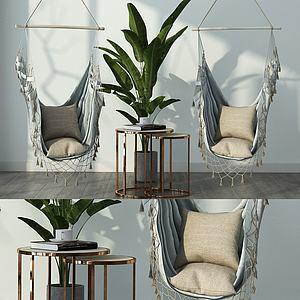 現代休閑吊椅3d模型