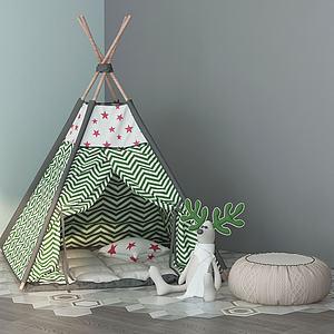 現代兒童帳篷3d模型
