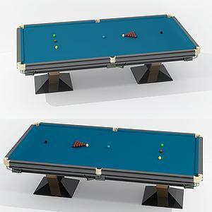 現代臺球桌3d模型