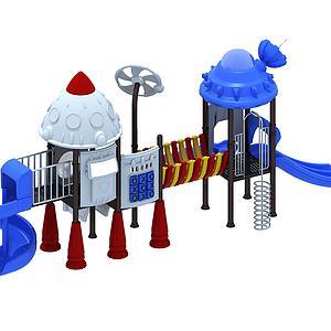 机器人滑梯模型3d模型