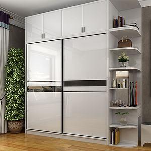 現代衣柜3d模型
