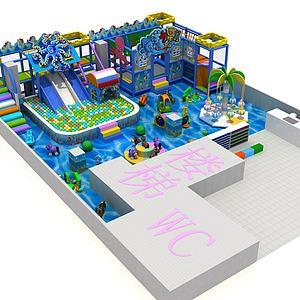 海洋风格游乐园3d模型