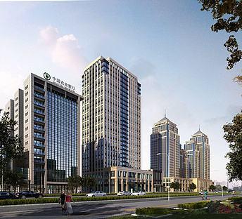 中式现代办公商业街