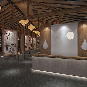 书画展厅3d模型