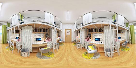 3d学生宿舍全景模型