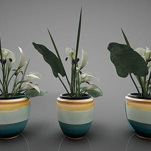 3d新中式风格装饰品模型