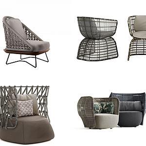 3d户外休闲椅模型