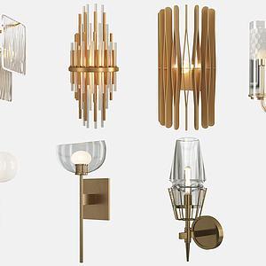 现代壁灯组合模型