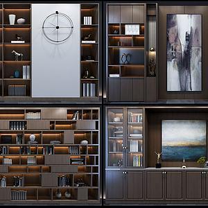 現代書柜組合模型3d模型