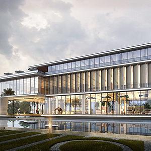 现代酒店3d模型