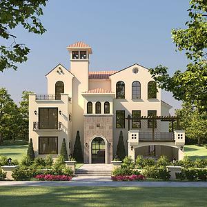 3d别墅模型