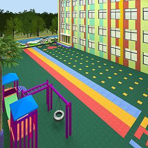 幼兒園操場3d模型