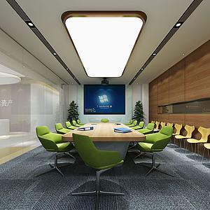 现代办公室会议室3d模型