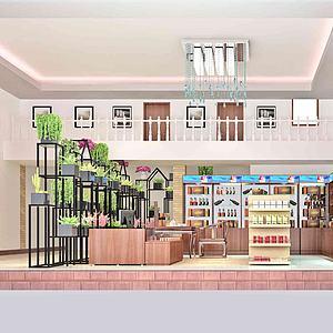 獨立店3d模型
