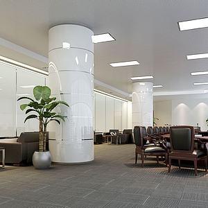 現代辦公會議室模型3d模型