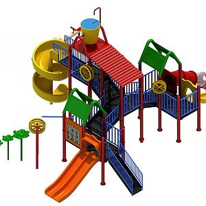 3d儿童游乐设施模型