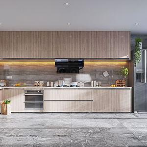 北歐廚房3d模型