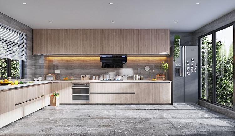 北欧厨房模型