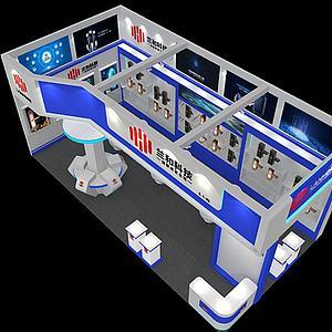 科技展覽展廳模型3d模型