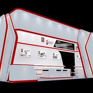 电子产品展厅展览模型