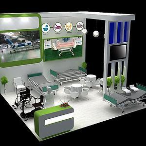 现代器材展厅模型