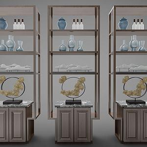 新中式风格装饰架3d模型