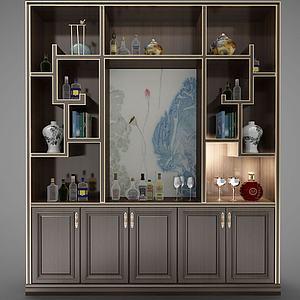 新中式风格柜子3d模型