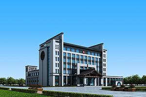 新中式医院办公楼模型模型