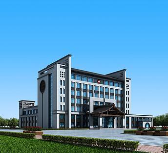 新中式医院办公楼