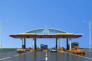 现代高速收费站模型模型