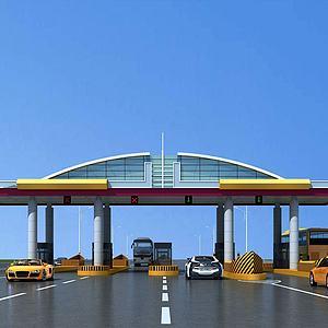 現代高速收費站模型3d模型