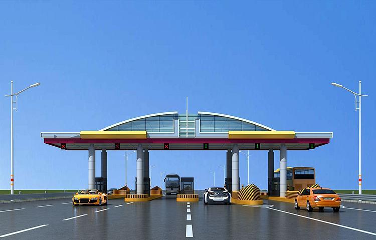 现代高速收费站模型
