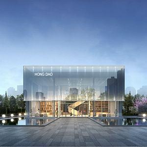 現代辦公展覽館模型3d模型