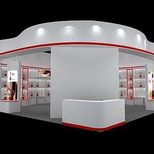 化妆品展览模型