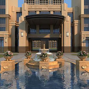 歐式噴泉模型3d模型