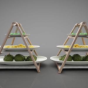 3d现代风格食物摆件模型