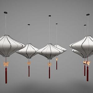 新中式风格吊灯模型