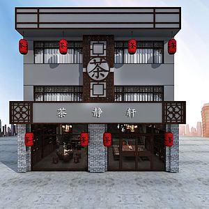 中式茶楼模型3d模型