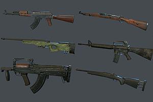 现代步枪组合模型模型