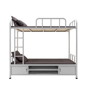 現代雙層床3d模型
