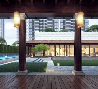 现代住宅庭院