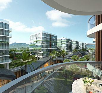 阳台景观建筑群