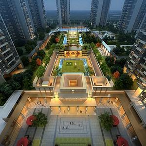 住宅小區景觀模型3d模型