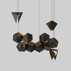 现代几何吊灯模型